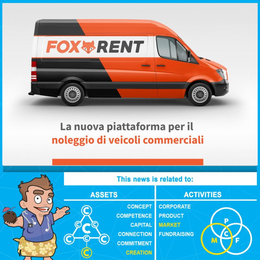 Foxrent noleggio veicoli commerciali enry's island startup market corporate creation